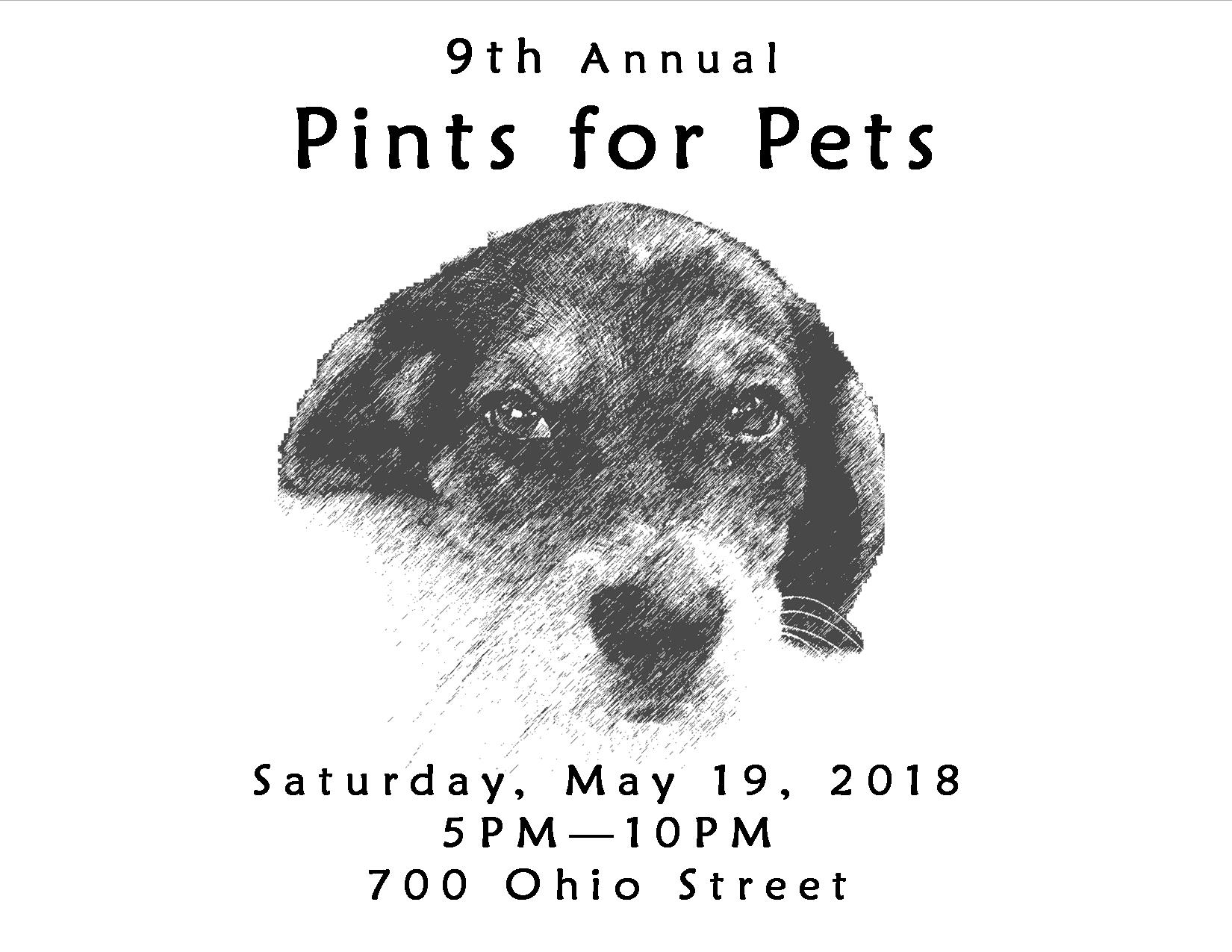 Pints for Pets 2018 - May 19, 2018